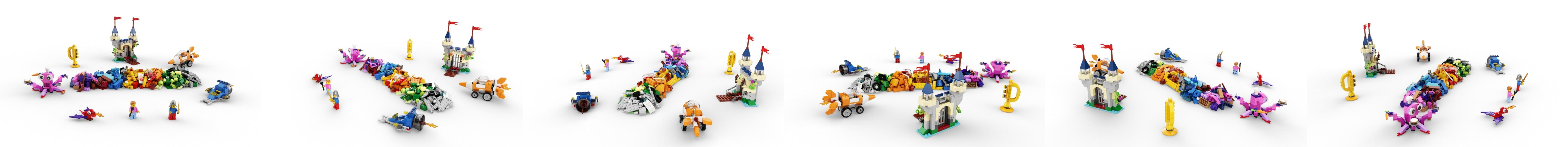 Lego Pierre arrondi 1x4x0,6 New marron 4 Pièce 227