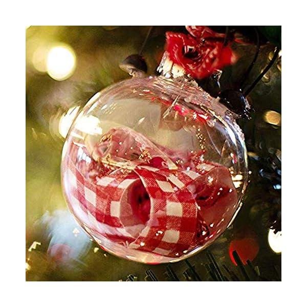 Okaytec Palline per Albero di Natale - Palle di Natale Trasparenti Come Addobbi Natalizi per Decorazioni Albero Natale - 20 pz (Diametro 6 cm) 4 spesavip