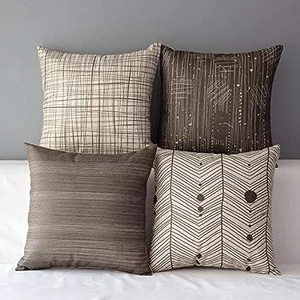 Cuscini Moderni Divano.Amazon Com Lihio Throw Pillows Covers Decorative Cushion Covers