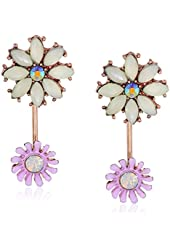Betsey Johnson Spring Fling Flower Front-and-Back Drop Earrings