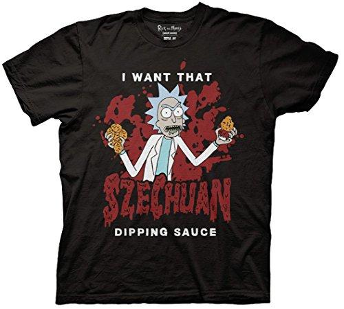 Rick and Morty Szechuan Sauce T-shirt (Small, Dipping Sauce)