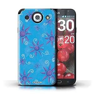Kobalt® protector duro de nuevo caso / cubierta para el LG Optimus G Pro | Azul/púrpura Diseño | Dom/patrón sol colección
