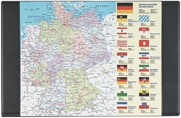 schreibunterlage deutschlandkarte Schreibtischunterlage 68x44cm Deutschlandkarte: Amazon.de