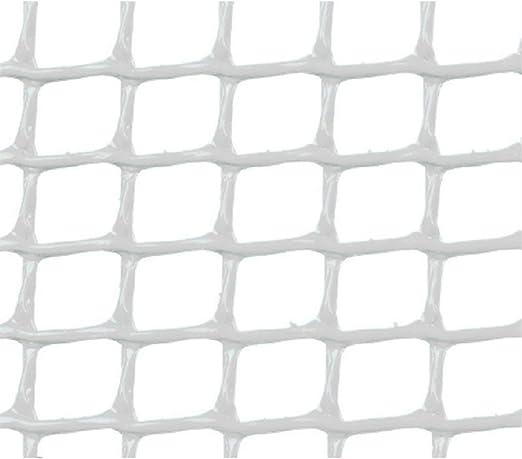 Faura 1x25 m - Malla PLASTICA Cuadrada 0, 5x0, 5 cm Blanca: Amazon.es: Jardín