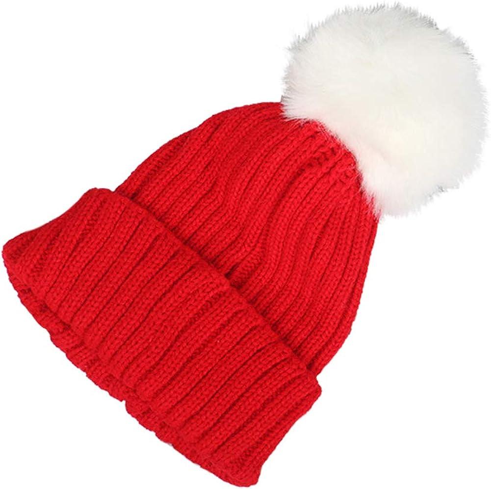 Winter Warm Hats Kids Solid...