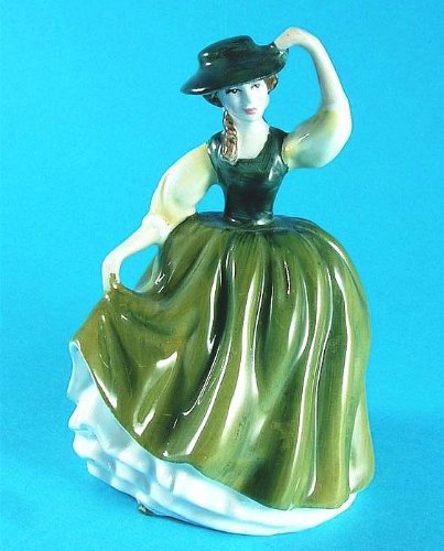 - Royal Doulton small figurine - HN3268 - Buttercup - green dress with gloss finish - GC48