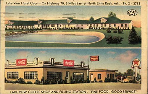 Lake View Hotel Court and Coffee Shop North Little Rock, Arkansas Original Vintage - Shops North Lakes