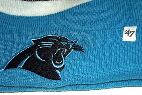 NEW! 47 Brand NFL Carolina Panthers Knit Cuffed POM Breakaway Beanie ... 83f13a5fb