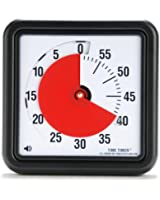 Time Timer 8 INCH, 60 minute visual analog timer with flip out legs and optional alert