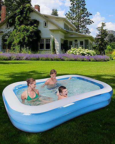 """51Pup99RXhS Tamaño familiar: El tamaño de esta piscinas hinchables es 200 X 150 X 50 cm=78.7"""" X 59"""" X 19.7""""Adecuado para 2-3 niños para tener su propia piscina niños familiar para este verano y disfrutar de una fiesta en la piscina infantil en su ¡¡patio interior!! Alta calidad y resistente al desgaste: Esta piscina niños está hecha con material de PVC de alta resistencia, resistente y agradable para la piel, protección del medio ambiente y no tóxico, resistente al desgaste y esta piscina hinchable infantil es 80% más gruesa que la mayoría de sus competidores en el mercado,reduciendo el riesgo de pinchazos para una larga vida útil y seguridad reforzada. Diseño antifugas y duradero: Válvula antifugas, diseño multicapa y material de sellado de alta calidad para garantizar que estas piscina infantil eviten fugas de aire y agua.Puede evitar eficazmente el daño de productos afilados, que es perfecto para uso en jardines o exteriores."""