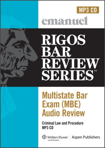 MBE Audio: Criminal Law (Rigos Bar Review Series: Multistate Bar Exam Audio Review (MBE)) by Wolters Kluwer Law & Business