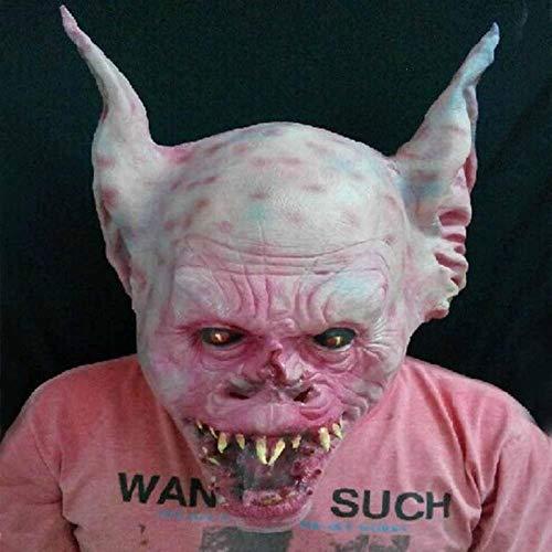 DeemoShop Horror Bat Monster Strange Mask Latex Scary Cos Bats Mask Halloween Animals Head Devil Bat Man Mask Cosplay Costume Props #E
