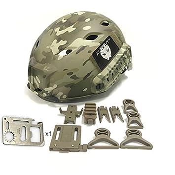 Worldshopping4U ajustable BJ tipo Base saltan rápido casco ABS para Airsoft Paintball, color: camuflaje