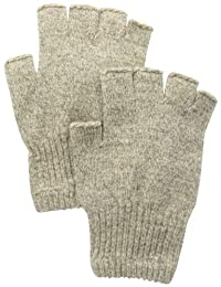 Fox River Mid Weight Ragg Fingerless Gloves - Brown Tweed