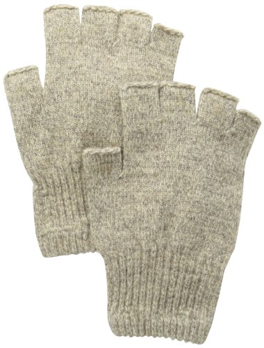 Nylon Gloves Striped (Fox River Men's Mid Weight Fingerless Ragg Glove, Brown Tweed, Medium)