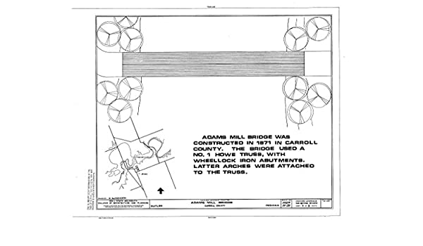 Amazon historic pictoric blueprint diagram title sheet adams amazon historic pictoric blueprint diagram title sheet adams mill bridge spanning wildcat creek at county road 50 cutler carroll county malvernweather Choice Image