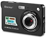 BONNA 21 mega pixels 2.7'' Display HD Digital Camera Digitals - Digital video camera - Students cameras - Kids Camera -for Adult /Seniors / Kids (Black)