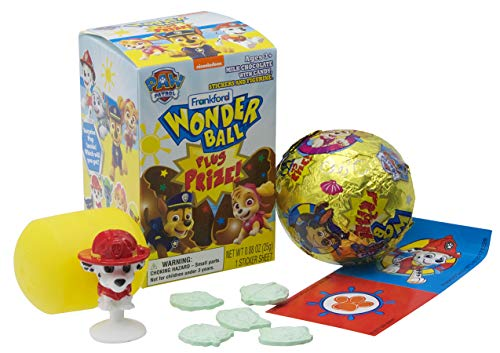 Frankford Candy Company Paw Patrol Wonder Ball Plus Prize, 0.88 Ounce (Pack of 10)