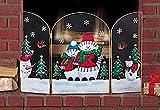 Snowman Christmas Fireplace Screen
