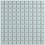 "tile kitchen floor  FXLMS1BL Retro Square Porcelain Floor and Wall Tile, 11.75"" x 11.75"", Matte Light Blue"