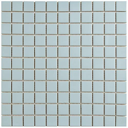 SomerTile FXLMS1BL Retro Square Porcelain Floor and