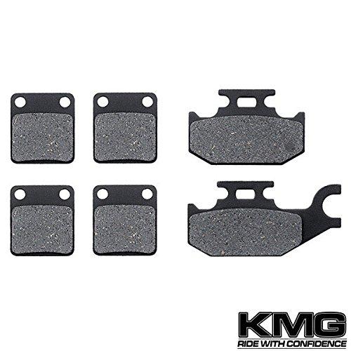 KMG 2005-2006 Yamaha YFM 450 Kodiak Auto 4X4 Front + Rear Carbon Kevlar Organic NAO Brake Pads Set