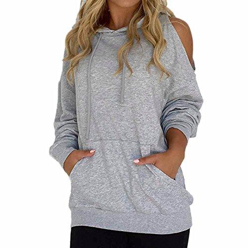 rocicaS Clearance Women's Long Sleeve Solid Off Shoulder Hoodies Sweatshirt Jumper Shirts Blouses Tops Sweaters (Sweater Jumper Set)