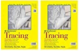 Strathmore 370-9 300 Series Tracing Pad, 9''x12'' Tape Bound, 50 Sheets (Twо Pаck, White)