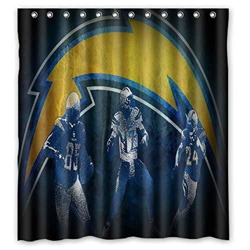 - BKBK 66 x 72 inch Sport Style Shower Curtain Eco-Friendly PVC-Free Bathroom Curtain Waterproof