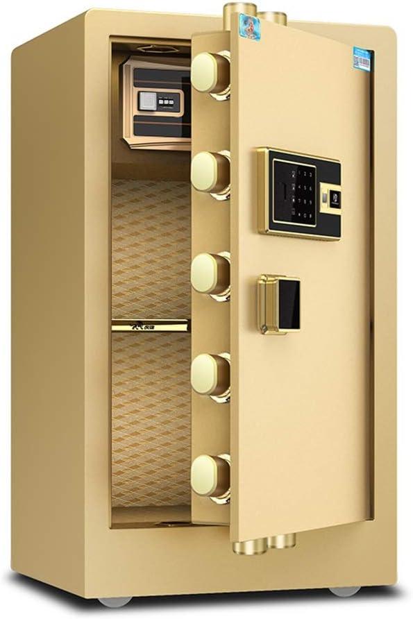 Cajas fuertes Caja fuerte de seguridad electrónica para el hogar con un hogar mediano Seguridad de huellas dactilares pequeña Oficina de acero inteligente Caja de ...