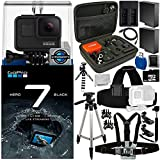 GoPro HERO7 Hero 7 Black 20PC Accessory Bundle - Includes 64GB microSD Memory Card + High Speed Memory Card Reader + Memory Card Wallet + 2X Replacement Batteries + More