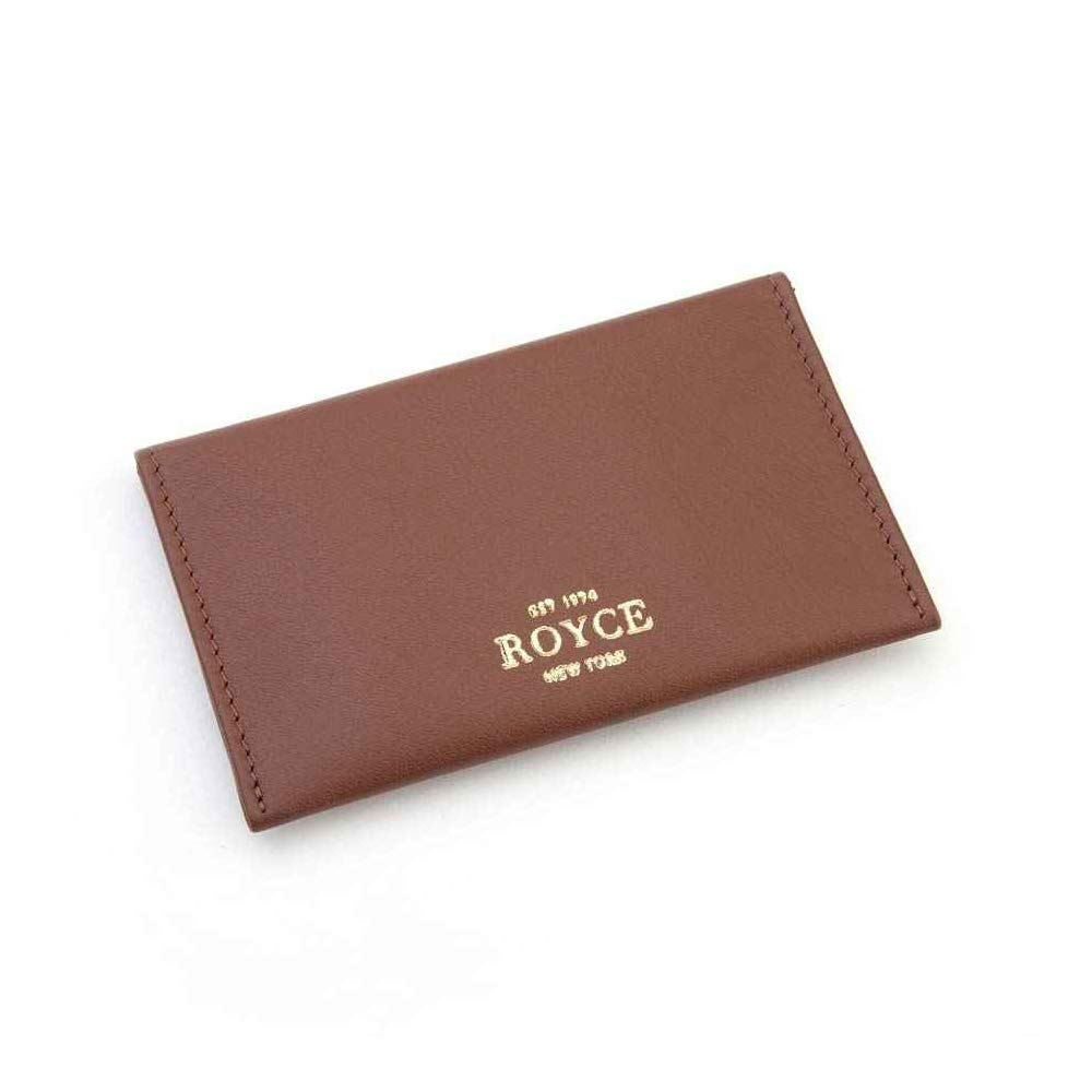 Royce Tan Genuine Leather Envelope Card Case 425-TAN-5
