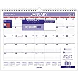 AT-A-GLANCE 2018 Monthly Wall Calendar, January 2018 - December 2018, 14-7/8'' x 11-7/8'' (PM828)