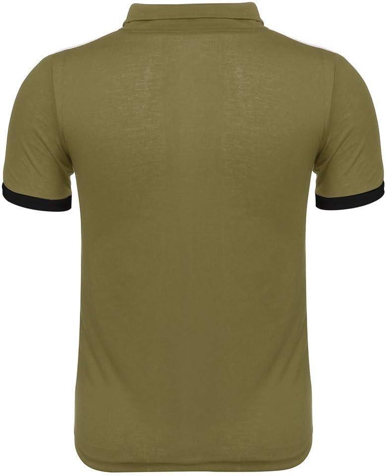Mens Summer t Shirts Short Sleeve,Tronet Mens Summer Leisure Fashion Color Collision Sports Short Sleeve Shorts Tops