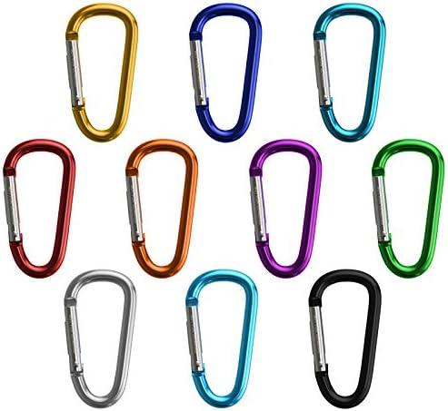 BB Sport Portachiavi Closure Mix moschettone in allumini in Vari Colori 10 Pezzi per la casa,Caravan,Campeggio,Pesca,Viaggi Colore::Fun