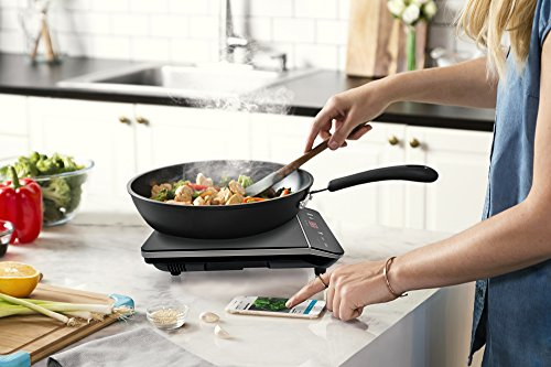 Cosmo Portable Electric Induction Cooktop with Rapid Heating, Sensor LED Display, Safety Lock, Energy Efficient Countertop Stove Single Burner, 1800-Watt, COS-YLIC1 by Cosmo (Image #1)