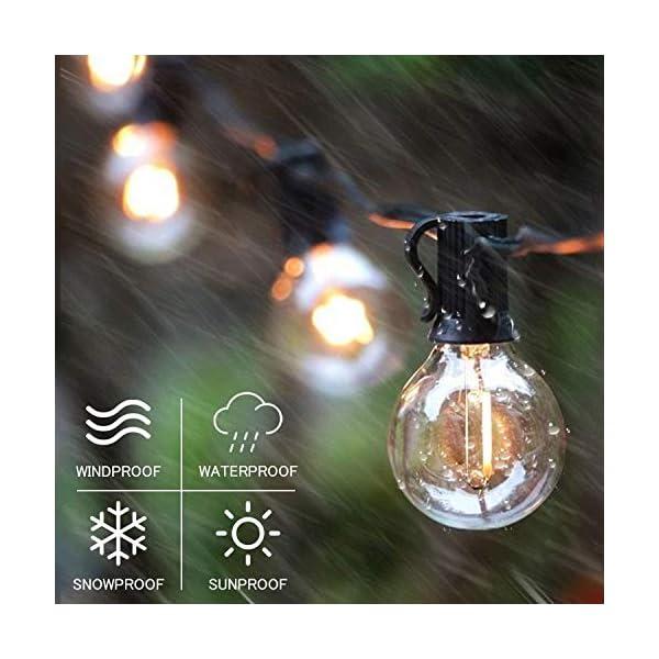 Catena Luminosa Esterno, Bomcosy 30m Luci da Esterno LED Catene Luminose per Esterni con 50+2 G40 Filo Lampadine Luminarie Lucine da Esterno Decorative per Giardino Natale Terrazza Matrimonio Partito 5 spesavip