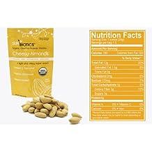 Sunbiotics is a Gourmet Vegan Probiotic Almond Snacks: 12/1.5 oz Pouches of Cheesy