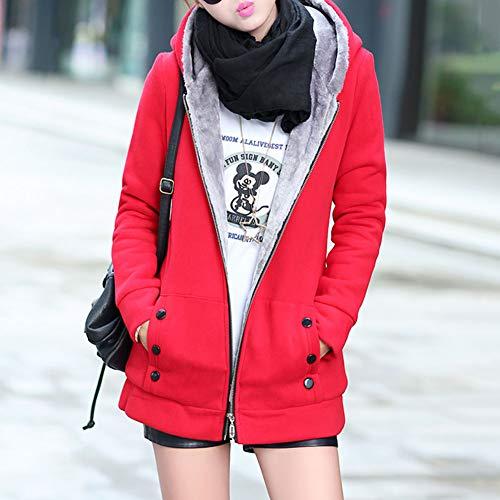 À Capuchon Manteau Blue Lanlan Femme Xl Doux Capuche Coton Red En D'hiver Xxxl xSqFqwB