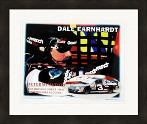 Autograph Warehouse 270557 Dale Earnhardt Sr. 8 x 10 in. Photo - Auto Racing- NASCAR Determination - No. 3 Matted & Framed from Autograph Warehouse