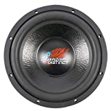Lanzar 12 Inch Car Subwoofer - for Audio Stereo Sound Speaker System with Non-Pressed Paper Cone, Steel Basket, Dual 4 Ohm Impedance, 1600 Watt Power and Foam Surround - DCT12D (Black)
