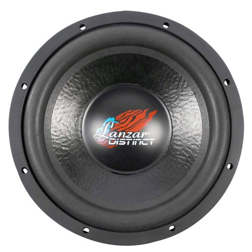 ubwoofer - for Audio Stereo Sound Speaker System with Non-Pressed Paper Cone, Steel Basket, Dual 4 Ohm Impedance, 1600 Watt Power and Foam Surround - DCT12D (Black) (12' Car Sub Subwoofer)