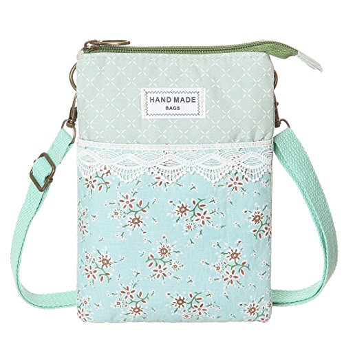 Cell Purse Bags Women Wallet Lace Crossbody Phone Canvas Small Green For 77wryfHq
