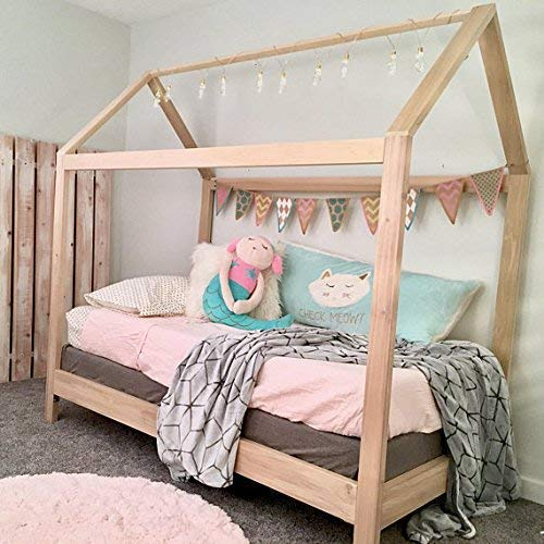 hot sale online ec05d e4e88 House Bed Frame Twin Size with legs (deluxe version) PREMIUM WOOD