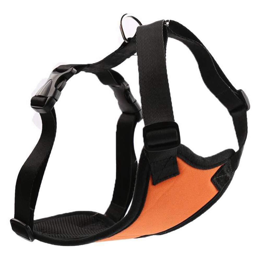 orange XL orange XL Jim Hugh Dog Harness Padded Vest Pet Dog Step in Harness Adjustable No Pulling Pet Harnesses Small Medium Dog