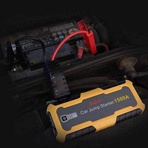 basaf car jump starter 1500a peak portable lithium battery booster power pack quick charge 3 0. Black Bedroom Furniture Sets. Home Design Ideas