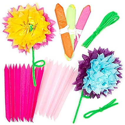 Amazon tissue paper flower kits for children to make decorate tissue paper flower kits for children to make decorate and personalize as a mothers day gift mightylinksfo