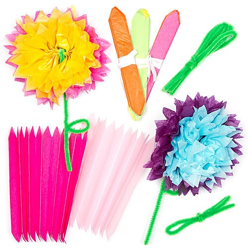Pipe cleaner tissue paper flowers top 10 results tissue paper flower kits for children to make decorate and personalize as a mothers day gift mightylinksfo