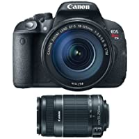 Canon EOS Rebel T5i with EF-S 18 135mm IS STM Kit + Canon EF-S 55-250mm f/4.0-5.6 IS II Telephoto Zoom Lens for Canon Digital SLR Cameras