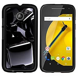 """Be-Star Único Patrón Plástico Duro Fundas Cover Cubre Hard Case Cover Para Motorola Moto E2 / E(2nd gen)( Patrón Negro Cromo"""" )"""